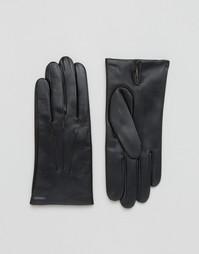 Кожаные перчатки на кашемировой подкладке Dents Bath - Черный