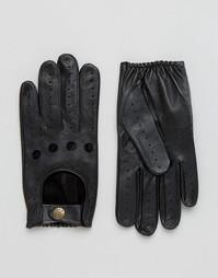 Кожаные перчатки Dents Delta - Черный