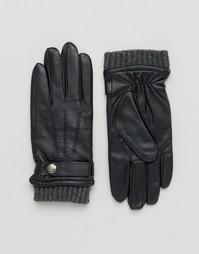 Кожаные перчатки для сенсорных гаджетов Dents Henley - Черный