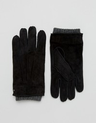 Черные замшевые перчатки Dents Hereford - Черный