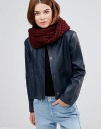 Вязаный шарф-снуд Lavand - Красный