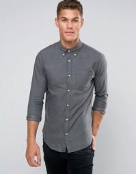 Строгая рубашка с воротником на пуговицах Jack & Jones Premium - Серый