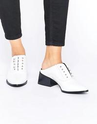 Белые лакированные кожаные туфли Sol Sana Claire - Белый