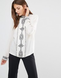 Рубашка с длинными рукавами и вышивкой Essentiel Antwerp Moufassa - Белый