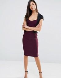 Платье-футляр со стеганой отделкой Vesper - Фиолетовый