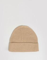 Светло-коричневая шапка-бини 7X - Рыжий