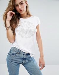 Футболка с логотипом Versace Jeans - Белый