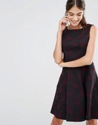 Платье с расклешенной юбкой и вставками Closet - Фиолетовый