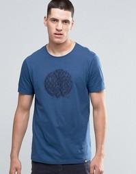 Темно-синяя футболка узкого кроя с логотипом Pretty Green - Темно-синий