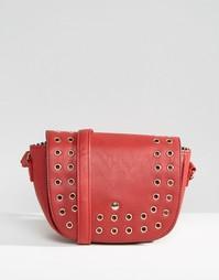Сумка через плечо с люверсами Yoki Fashion - Красный