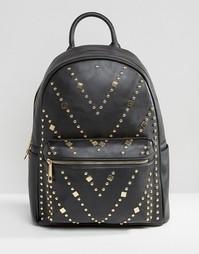 Рюкзак с заклепками Yoki Fashion - Черный