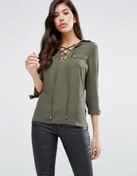 Блузка со шнуровкой Lipsy - Зеленый
