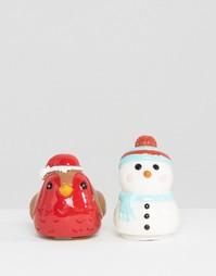 Два бальзама для губ в виде снеговика и малиновки - Бесцветный Beauty Extras