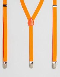 Узкие подтяжки 7 X Halloween - Оранжевый 7X