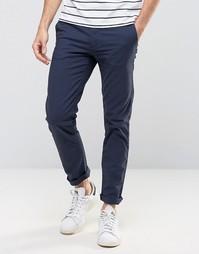 Темно-синие облегающие брюки Burton Menswear - Темно-синий
