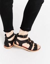 Кожаные сандалии-гладиаторы Hy By Hudson Newton - Черный