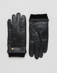 Черные кожаные перчатки Dents Penrith - Черный