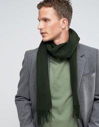 Зеленый шарф из овечьей шерсти Glen Lossie - Зеленый