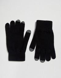 Мягкие перчатки из овечьей шерсти Glen Lossie - Черный