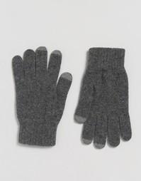 Мягкие перчатки из овечьей шерсти Glen Lossie - Серый