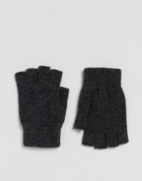 Перчатки без пальцев из овечьей шерсти Glen Lossie - Серый