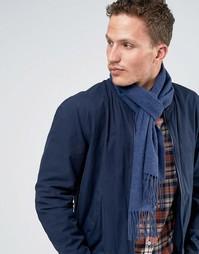 Голубой шарф из овечьей шерсти Glen Lossie - Синий
