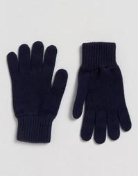 Темно-синие кашемировые перчатки Glen Lossie - Темно-синий