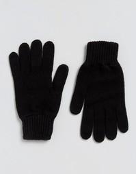 Черные кашемировые перчатки Glen Lossie - Черный