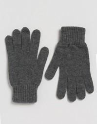 Серые кашемировые перчатки Glen Lossie - Серый