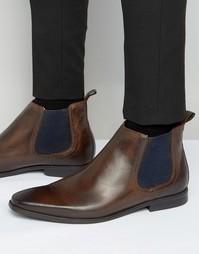 Кожаные ботинки челси Base London William - Коричневый