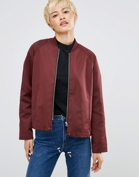 Куртка-пилот Weekday - Красный