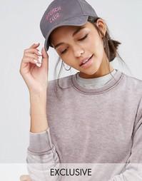Бейсболка с вышивкой Adolescent Clothing - Серый