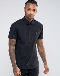 Рубашка суперузкого кроя с логотипом Hype - Черный