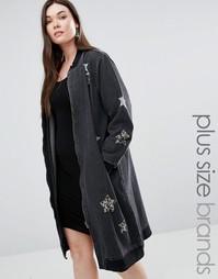 Куртка с отделкой звездами Alice & You - Черный