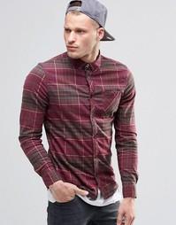 Красная фланелевая рубашка классического кроя в клетку Element - Красный
