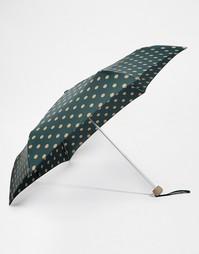Зеленый зонт в горошек с 2 кнопками Cath Kidston Minilite - Зеленый