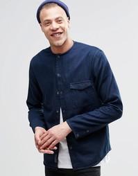 Джинсовая рубашка без воротника Cheap Monday Erase - Синий