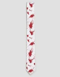 Галстук с принтом брызги крови SSDD Halloween - Красный