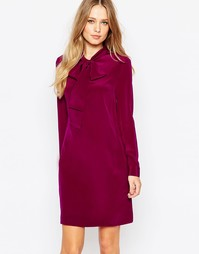 Платье-туника с бантом Ted Baker Yanka - Фиолетовый