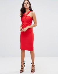 Платье миди с перекрутом Forever Unique Aisha - Красный
