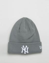 Шапка-бини New Era NY Yankees - Серый
