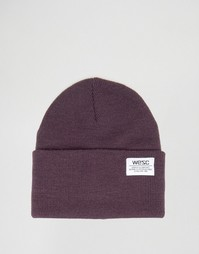Вязаная шапка-бини Wesc Puncho - Фиолетовый