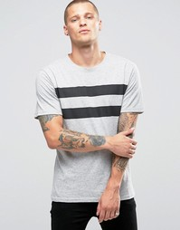 Футболка в крапинку с полосками Troy - Серый