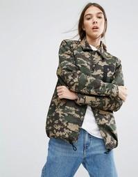 Свободная спортивная куртка с камуфляжным принтом Carhartt WIP - Зеленый
