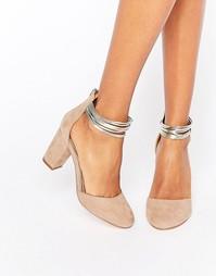 Туфли на среднем каблуке из 2 частей Miss KG - Бежевый