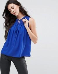 Блузка с защипами Greylin Lawrence - Синий