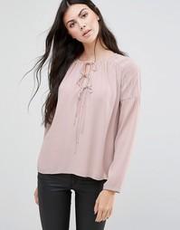 Блузка с завязками у горловины Greylin Haydie - Розовый