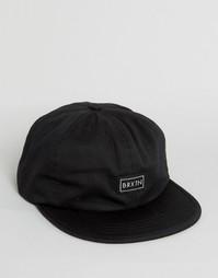 6-панельная кепка Brixton Jonas - Черный