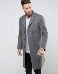 Пальто из переработанной шерсти Nudie Waldo - Серый