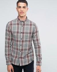Фланелевая рубашка в клетку Only & Sons - Серый